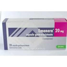 EMANERA 20 mg x 28 CAPS. GASTROREZ. 20mg KRKA, D D , NOVO MES
